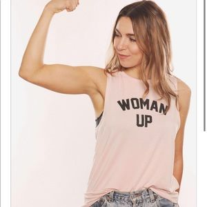 House of Tens Women Up tank - medium- $15